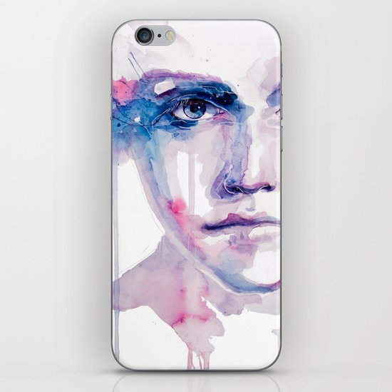 ragazza falena iPhone & iPod Skin