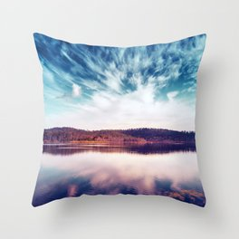 When the Sky Touched the Earth Throw Pillow