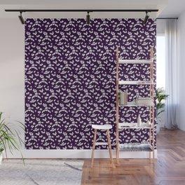 Purple Floral Wall Mural