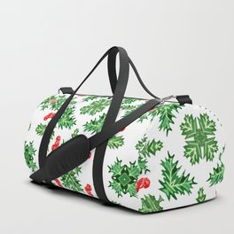 Holly Jolly Christmas Kaleidoscope (Large Pattern) Duffle Bag