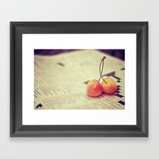 cherries Framed Art Print