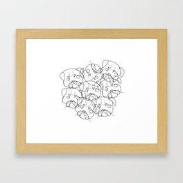 pug lump Framed Art Print