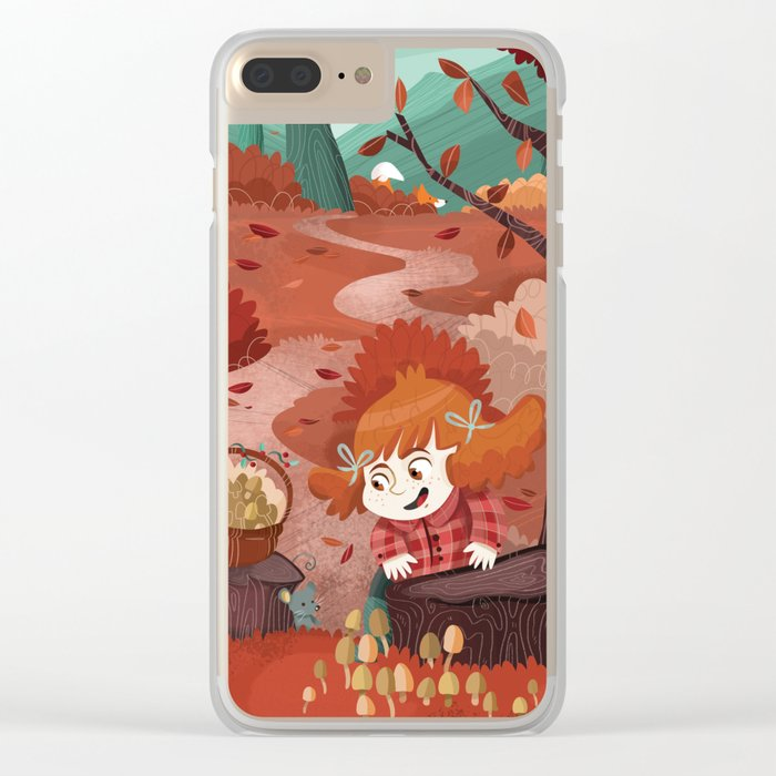 Autumn time | Giadina and mushrooms Clear iPhone Case