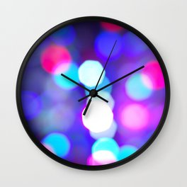 Christmas bokeh III Wall Clock