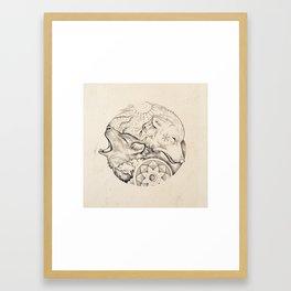 Sun wolf, moon wolf Framed Art Print