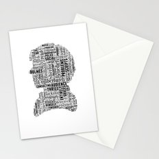 Sherlock BBC Benedict Cumberbatch Typography Silhouette Stationery Cards