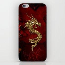Wonderful golden chinese dragon iPhone Skin