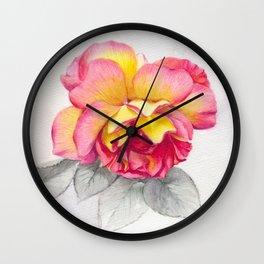 Rose 6 Wall Clock