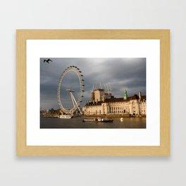 The London Eye On The South Bank Framed Art Print