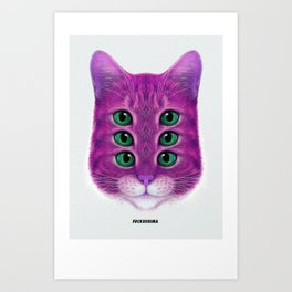 FUCKUCATZ Art Print