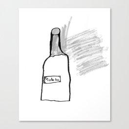 Bottle of Milk Canvas Print