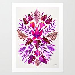 Tropical Symmetry – Magenta Art Print