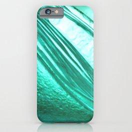 Deep sea blue glass texture iPhone Case