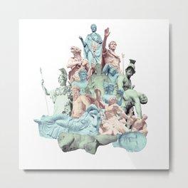 Statue Collage v.2 Metal Print