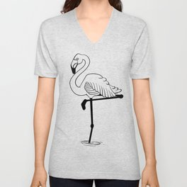 Flamingo Unisex V-Neck