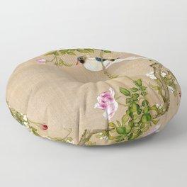 Flowers and Birds Floor Pillow
