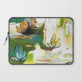 """""""Rise Above"""" Original Painting by Flora Bowley Laptop Sleeve"""