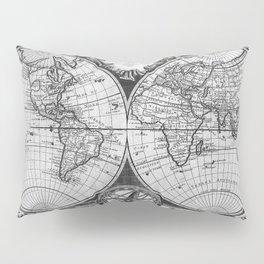 Vintage Old Map Design Pillow Sham