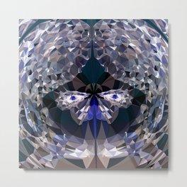 crystal butterfly Metal Print
