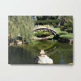 Meanwhile, in the Japanese Gardens... Metal Print
