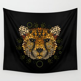 Cheetah Face Wall Tapestry