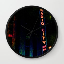 Radio City Grunge Wall Clock