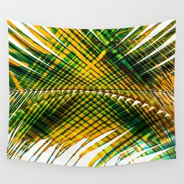 Palm Frond Strong [yellow] Wall Tapestry