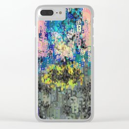 Superhero Type Art Comics Bat Clear iPhone Case