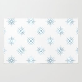 Seamless pattern with blue snowflakes Rug