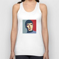 spock Tank Tops featuring Spock by Blueshift