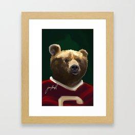 Big Red Bear Portrait Framed Art Print