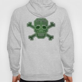 Hacker Skull Crossbones (isolated version) Hoody