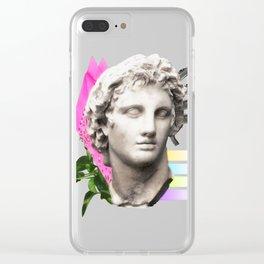 Vaporwave Roman Bust Clear iPhone Case