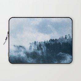 Blue Foggy Rocky Mountains Colorado USA Adventure Laptop Sleeve