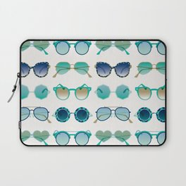 Sunglasses Collection – Turquoise & Navy Palette Laptop Sleeve