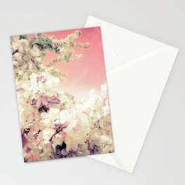 Pink Lavender Flowers Stationery Cards