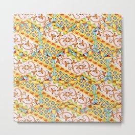 Pink Bonbon Hexagons Metal Print