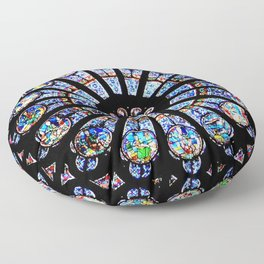 Cathedral Stained Glass Floor Pillow