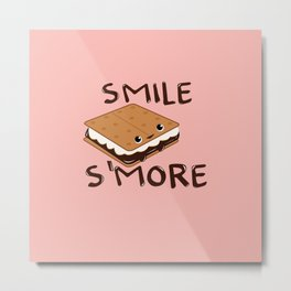 Smile S'more Metal Print