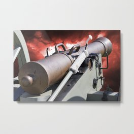 Cannon and bombing Metal Print