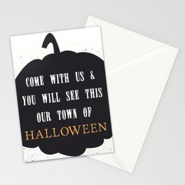 This our town of Halloween Stationery Cards
