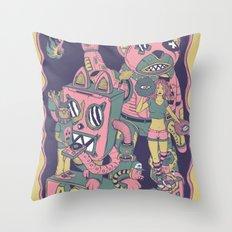 acid lunch Throw Pillow