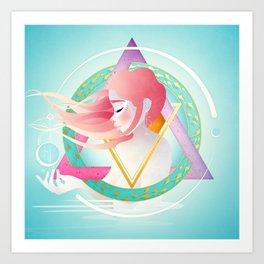 Pisces :: Zodiac Geometry Art Print