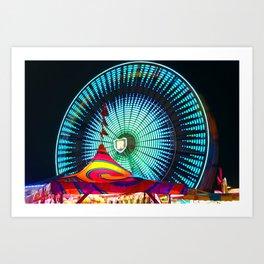 Ferris Wheel blue Art Print