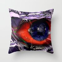 birdman Throw Pillows featuring BirdMan by John Hansen