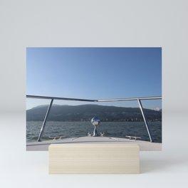 Boating Blues Mini Art Print