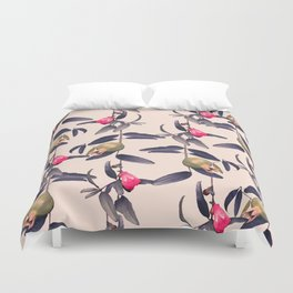 Pomegranate Vine in Blue Hue Duvet Cover