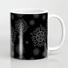 Anti Possession Pattern White Glow Coffee Mug