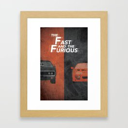 The Fast and the Furious Movie Poster Version I Framed Art Print