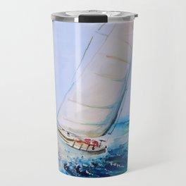 Sailboat Watercolor Travel Mug
